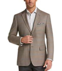 pronto uomo platinum modern fit sport coat tan plaid