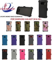 new defender series case & belt clip holster for samsung galaxy s8 and s8 plus