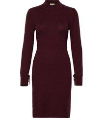 bellacr dress knälång klänning röd cream