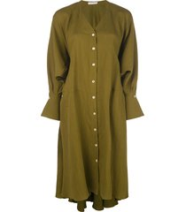 palmer//harding oversized midi shirt dress - green