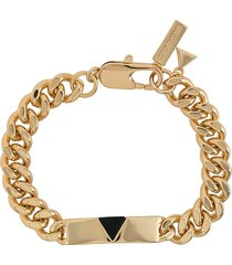coup de coeur chunky chain pyramid bracelet - gold