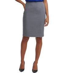 calvin klein micro-check pencil skirt