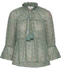 blouse blouse lange mouwen groen noa noa