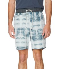 7 diamonds core active stone print shorts, size large in stone grey at nordstrom