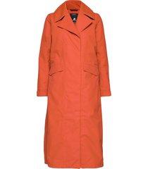 hanna wns coat trenchcoat lange jas oranje didriksons