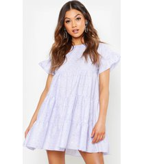 broderie anglaise smock dress, lilac