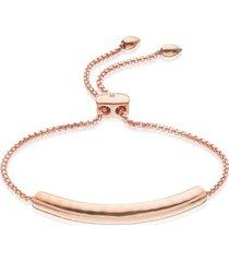 esencia chain bracelet, rose gold vermeil on silver