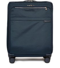 baseline medium expandable spinner suitcase - navy