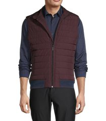 perry ellis men's full-zip puffer vest - dark sapphire - size xl