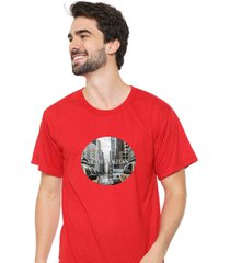 camiseta sandro clothing metropolitan vermelho - vermelho - masculino - dafiti