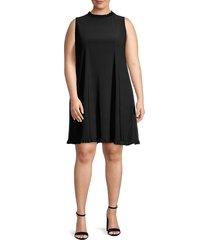 tiana b women's ruffled dress - black - size 2x (18-20)