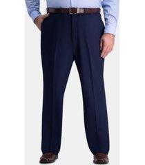 jm haggar men's big & tall classic-fit 4-way stretch flat-front dress pants