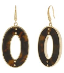 laundry by shelli segal tortoise drop pave stones earring