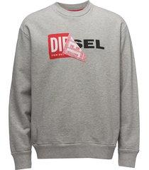 s-samy sweat-shirt trui met lange mouwen grijs diesel men
