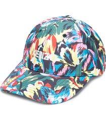 kenzo x vans floral-print logo cap - green