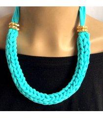 collar tejido wow! azul marino