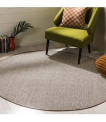 safavieh natural fiber natural and taupe 6' x 6' sisal weave round area rug