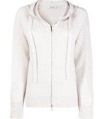 's max mara zip-up knitted hoodie