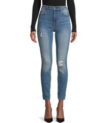 true religion women's jennie destroy skinny jeans - blue - size 29 (6-8)