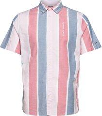 tjm retro stripe shirt kortärmad skjorta blå tommy jeans