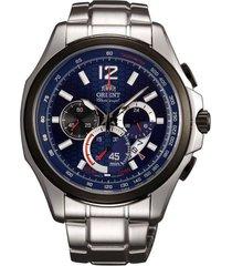 reloj orient fsy00002d cronografo 100% original-azul