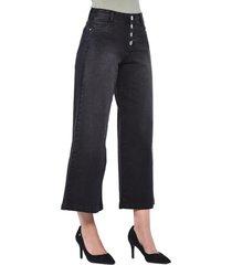 jeans tiro alto culotte 3194 negro amalia jeans