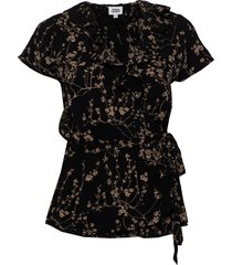 henny blouse blouses short-sleeved zwart twist & tango