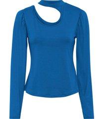 maglia con cut-out (blu) - bodyflirt
