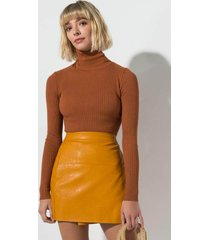 akira bb love faux leather wrap mini skirt