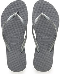 women's havaianas slim flip flop, size 35/36 br - grey
