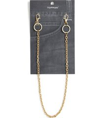 mens gold wallet chain*
