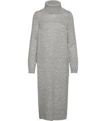 onlbrandie l/s roll neck dress knt knälång klänning grå only