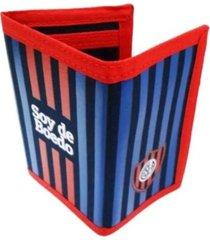 billetera azul san lorenzo boedo - sl151