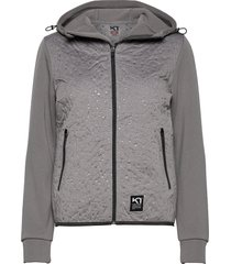 emma hybrid sweat-shirts & hoodies fleeces & midlayers grå kari traa