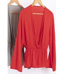 blusa roja nano camila