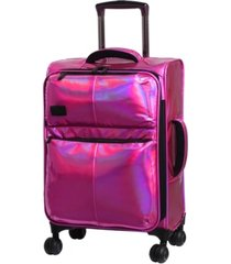 "it girl spellbound 22"" holographic expandable carry-on spinner suitcase"