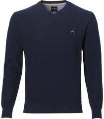 jac hensen pullover - moden fit - blauw