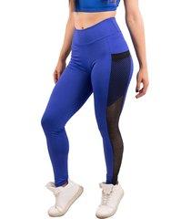 calça bella fiore modas legging fitness bolso tela azul