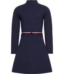 essential skater dre jurk blauw tommy hilfiger