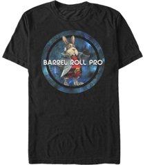 nintendo men's star fox barrel role pro short sleeve t-shirt