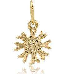 pingente narcizza semijoias espírito santo diâmetro 1,1 cm banhado no ouro