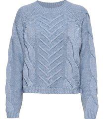sille blouse gebreide trui blauw storm & marie