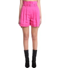 iro enid shorts in rose-pink cotton