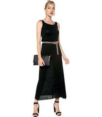 vestido negro-plateado paris district