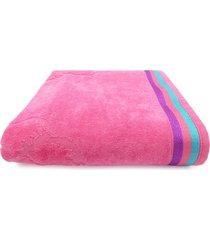 toalha de praia beach - appel - oceano - rosa neon