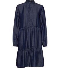 anna ls dress kort klänning blå soft rebels