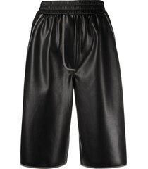 nanushka yolie faux-leather shorts - black