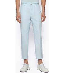 boss men's relaxed-fit cropped trousers
