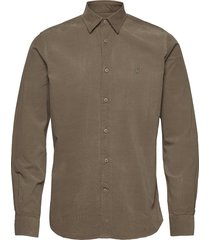 cedrik button under shirt skjorta casual grön morris