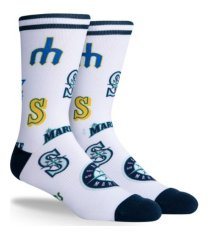 parkway seattle mariners mix crew socks